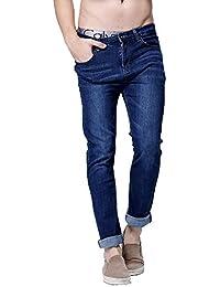 Men Jeans Skinny Jeans Slim Straight High Elastic Feet Jeans Plus Size 29-40