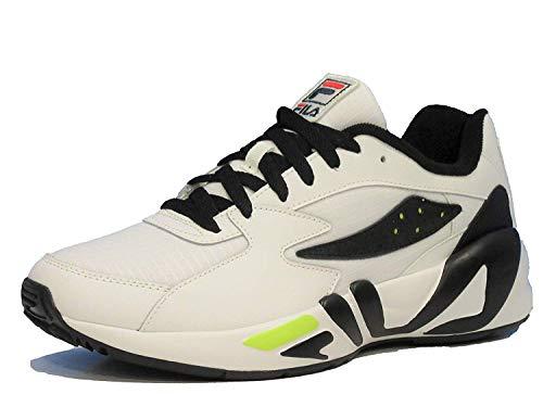 - Fila Men's Mindblower Trainer Sneakers (11, wht/blk/Sfty)