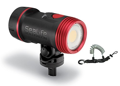 SeaLife SL6712 Sea Dragon 2500 UW Photo/Video Light Head Package w/ Coil Lanyard