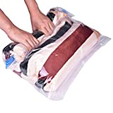Travel Space Saver Bags (8 Pack) - Premium Vacuum Seal Storage Bags | Roll up Compression Bags for Clothes, Pillows, Curtains, Blankets,No Pump Tools to Extract Air - for Travel and Home Storage(4 Sizes,Small to Large)