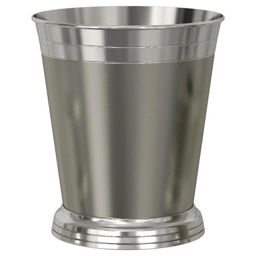 Lighthouse Wastebasket - nu steel Lighthouse Collection Metal Wastebasket, Round Trash Can for Bathroom, Bedroom, Dorm, College, Office, 9.5