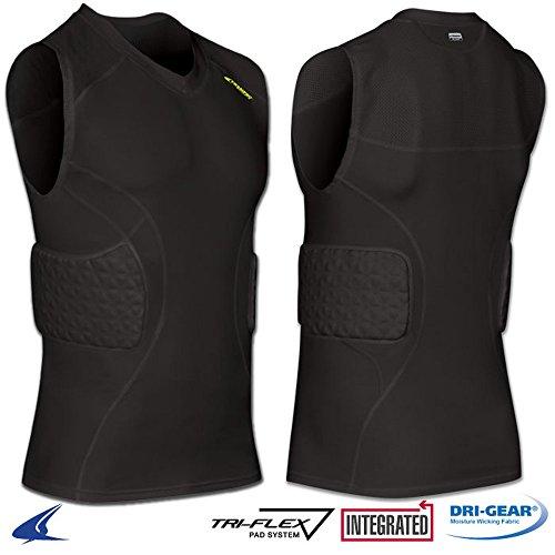 Champro Tri-Flex Padded Shirt Black Adult XL BBJU9 BBJU9ABXL