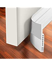 """H HOME-MART Door Draft Stopper Under Door Seal for Exterior/Interior Doors, Strong Adhesive Door Sweep Soundproof Weather Stripping, 1.18"""" W x 39"""" L, White"""