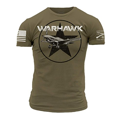 Grunt Style P-40 Warhawk Men's T-Shirt, Color Tan-499, for sale  Delivered anywhere in USA