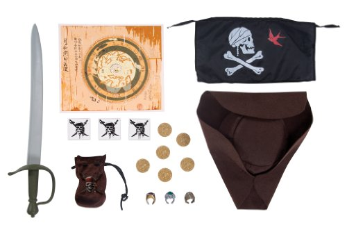 (Disney's Pirates of the Caribbean On Stranger Tides Jack Sparrow Role-Play Dress Up Set)