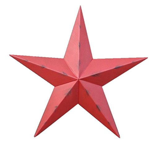 nt Red Star Made with Galvanized Metal to Prevent Rusting. Amish Hand Made Your Source for Heavy Duty Metal Tin Barn Stars and Primitive Style Stars for Your Country Crafts and Home and Garden Decor. American Handcrafted - Made in the Usa! (Amish Tin Barn)