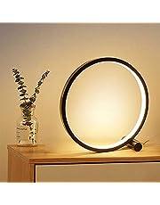 LED Tafellamp Voor Slaapkamer Circulaire Acryl Bureaulamp Voor Woonkamer Zwart/Wit Dimbaar Bedlampje Rond Nachtlampje