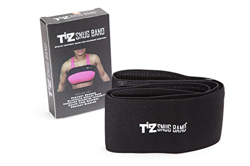 TILZ GEAR SNUGBAND Incredible/Adjustable breast support band to protect active women from boob bounce breast pain and breast sagging (MEDIUM, BLACK)