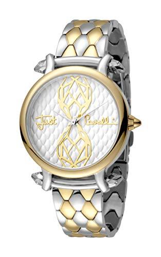 Just Cavalli Women's Animal JC1L061M0095 Quartz Gold Tone IP Two Tone Bracelet Watch