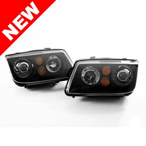 - SB MULTILINE TRADING 99-05 VW Jetta MK4 OEM HID Replica ECODE Black Projector Headlights - H7 HOUSING