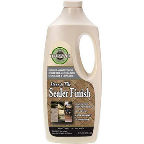 Trewax Professional Stone and Tile Indoor and Outdoor Sealer Finish, 32-Ounce (Tile Stone Outdoor)