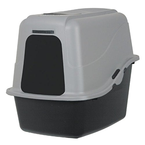Petmate Hooded Litter Pan Set Large, - Pan Hooded Petmate Set