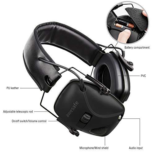 awesafe GF01+ Réduction du bruit Maximiser le son Sécurité électronique Casque antibruit, Protection de l'ouïe, Idéal… 6