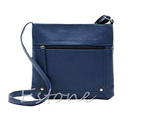 Moontang in messenger borsa tracolla pelle rosso Dark a borse da a Colore pelle Brown Dimensione tracolla Borsa a Blu donna in tracolla StxqwrS0v