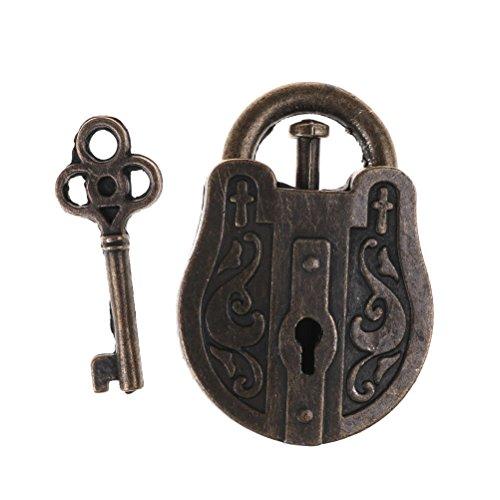 (Marketworldcup Vintage Metal Cast God Lock Key Puzzle Toy IQ&EQ Mind Brain Teaser Kid Gift)