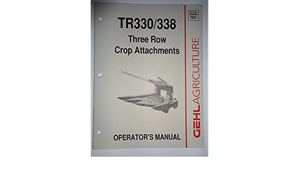gehl tr330 three row attachment parts manual