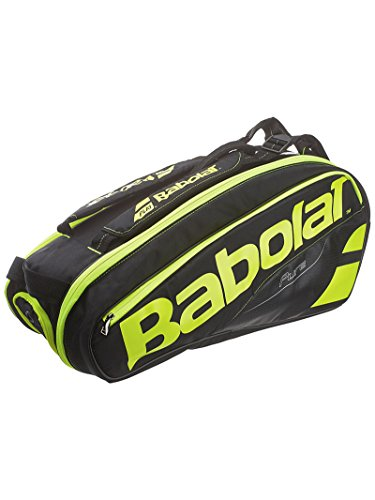 Babolat Pure Tennis Racquet Holder x6, Black/Yellow ()