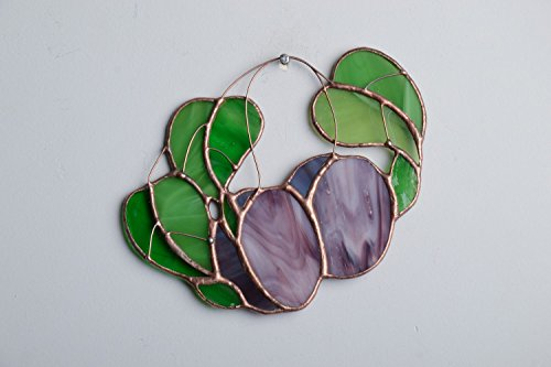 Stained Glass Interior Pendant In The Shape Of Plums ()