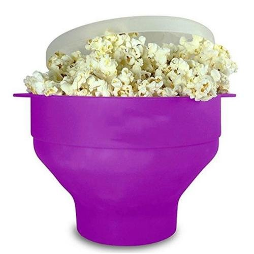 2017 Microwave Silicone Popcorn Popper Maker Collapsible Bow