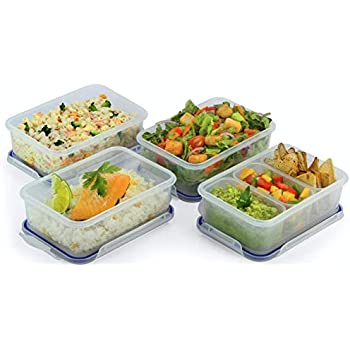 Amazon Com 6 Pack Glass Meal Prep Containers Food