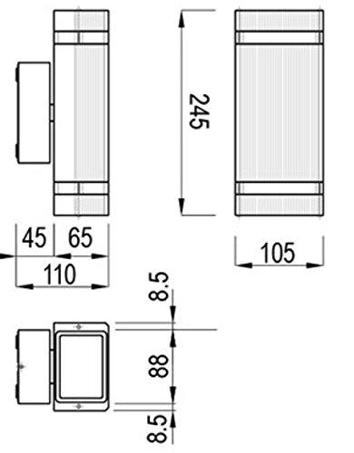 2006-2007 ZX10R WildBee Moto Lentille Fum/ée Signal de Freinage LED Feu Arri/ère Compatible avec 2005-2006 ZX6RR 636 2005-2006 Z750S