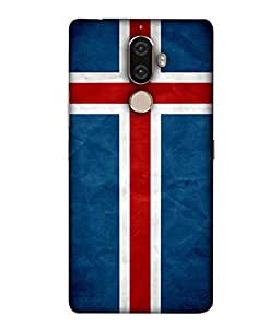 ColorKing Football Iceland 01 Blue shell case cover for Lenovo K8 Note