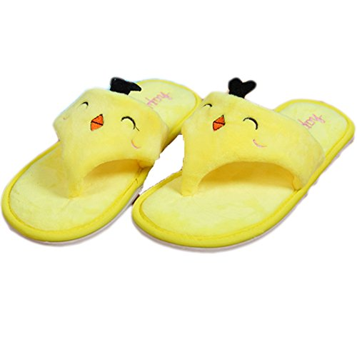 Ea @ Market Summer Mujeres Cute Cartoon Felpa Chancleta Chanclas Chick