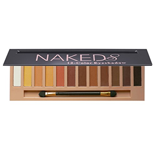 12 Colors Eyeshadow Pallete Natural Nudes Naked Matte & Shimmer &Glitter Professional Eye Shadow Pallete Set for Smoky Cosmetic,Waterproof Cosmetic Makeup Kit