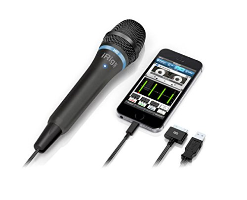 IK Multimedia iRig Mic HD high-definition handheld microphone for iPhone, iPad and Mac (black) by IK Multimedia