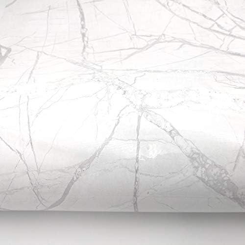 [スポンサー プロダクト]RoyalWallSkins 大理石シート 壁紙 リメイクシート 家具 テーブル キッチン DIY 多用途 リフォーム 壁紙シール インテリア 防水 艶がある 大理石柄 (MCPTR5017: 61cm x 200cm)