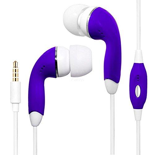 BargainPort Purple Color 3.5mm Audio Earphone Headphones Hea