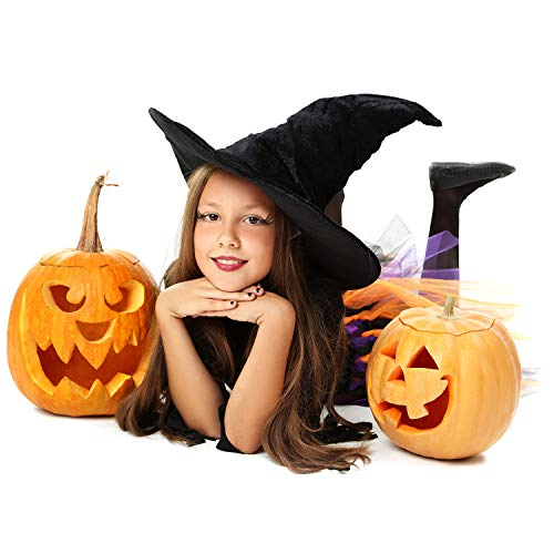 Halloween Haunters 3 Piece Professional Pumpkin Carving Tool Kit - Easily Carve Sculpt Halloween Jack-O-Lanterns - Scooper Scraper, Double Sided Saw, Fine Tooth Saw by Halloween Haunters (Image #2)