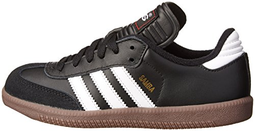 Adidas Samba Classic Leather Soccer Shoe (Toddler/Little Kid/Big Kid),Black/ White,13.5 M US Little Kid