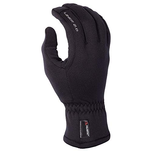 KLIM 2.0 Liner Men's Snow Snowmobile Gloves - Black / 2X-Large