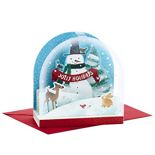 - Hallmark Paper Wonder Pop Up Christmas Card Snow Globe (Snowman)
