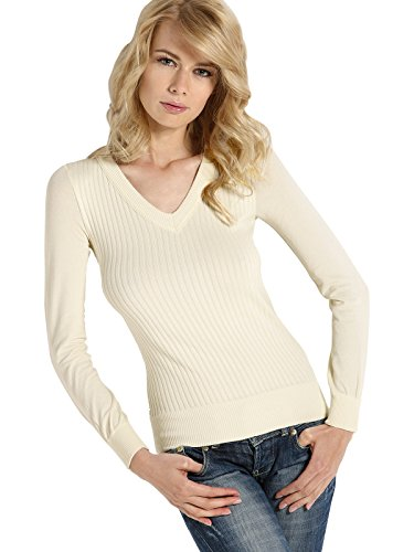 Femme En Italy Seamless Pull V Manches Coutures Viscose Sensi' Longues Perspirant Encolure Ferro Laine Made Sans In xSTpRTqw