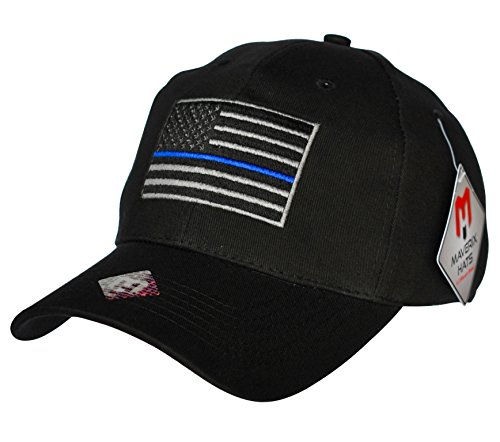Thin Blue Line Hat - Police Officer Hat Cool Baseball Caps Flag Cap Police Cap Officer Cap Blue Line Hat Police Officer Cap Washed Adult Adjustable Law (Police Caps)