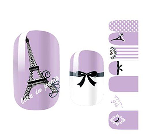 Opi Soak - 7pcs Romantic Waterproof Cute Nail Decal Peelable Nail Stickers Nail Tools