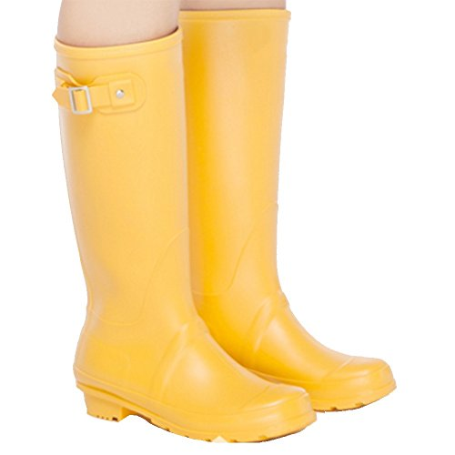 sexy Spring And Summer Fashion High Waterproof Rain Boots Ladies Rubber Boots Water Skid Shoes Shoes Adult Boots Women (Color : Red, Size : EU36/UK4/CN36) Yellow