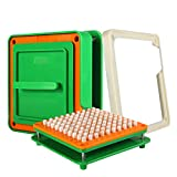 100 Hole (000#) Capsule Holder with Tamper for Size 000 Empty Capsules Holding Tray Pill Dispensers & Reminders -Green