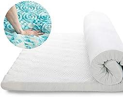 Bedsure Matratzentopper für boxspringbett, 7 Zone Topper mit Memory Foam als Matratzenauflage geeignet für Allergiker,...