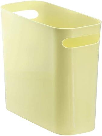 mDesign poubelle en plastique robuste avec poignées - idéal ...