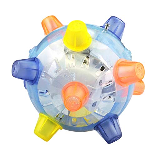 Kingkun Pet LED Jumping Ball Play Ball Music Bouncing Toy Ball Dancing Ball for Dogs Cats