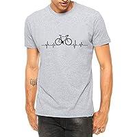 Camiseta Criativa Urbana Bicicleta Ciclismo Pulsação - Masculina