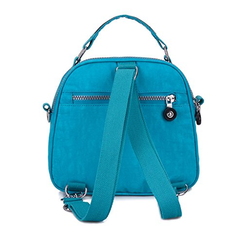 Azure Phone Layers Candy Dual Nylon Pouch Cell Mini Resistant Chou Bag Crossbody bigger Handbag Color Water Tiny Z8F1TZ