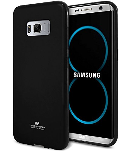 Galaxy S8 Case, [Thin Slim] GOOSPERY [Flexible] Pearl Glitter Jelly [Perfect Fit] TPU Case [Lightweight] Impact Resistant Bumper Cover [Anti-Discoloring Finish] for Samsung Galaxy S8, Black