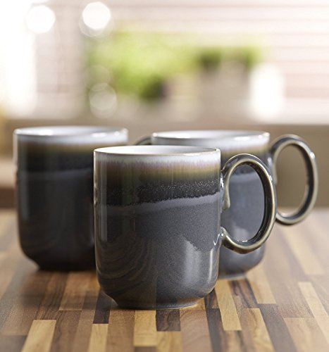 Denby Jet Black Small Plate and Grey Double Dip Mug, Set of 2 by Denby (Image #2)