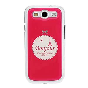 Bonjourr Drawing Pattern Neutral Stiffiness Silicone Gel Back Case Cover for Samsung Galaxy S3 I9300