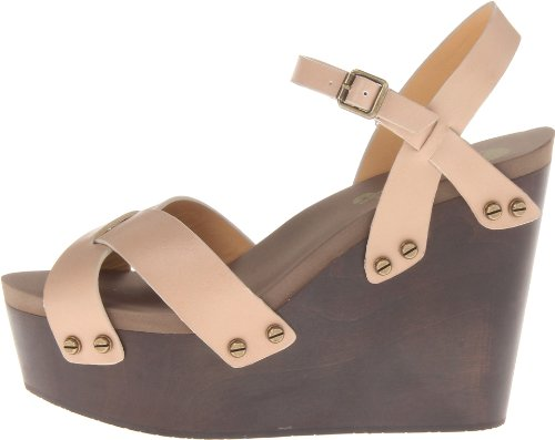 Flogg Women's Lillana Wedge Sandal,Taupe,10 M US