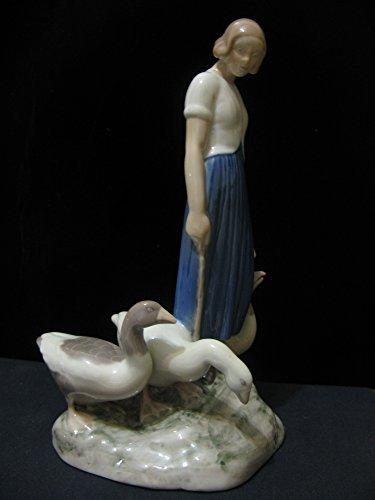 Grondahl Porcelain (B&g Bing & Grondahl Goose Girl Porcelain Figurine 2254)